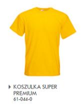 Żółta koszulka z nadrukiem