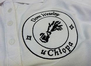 Logotyp firmy - wydrukowany na odzieży